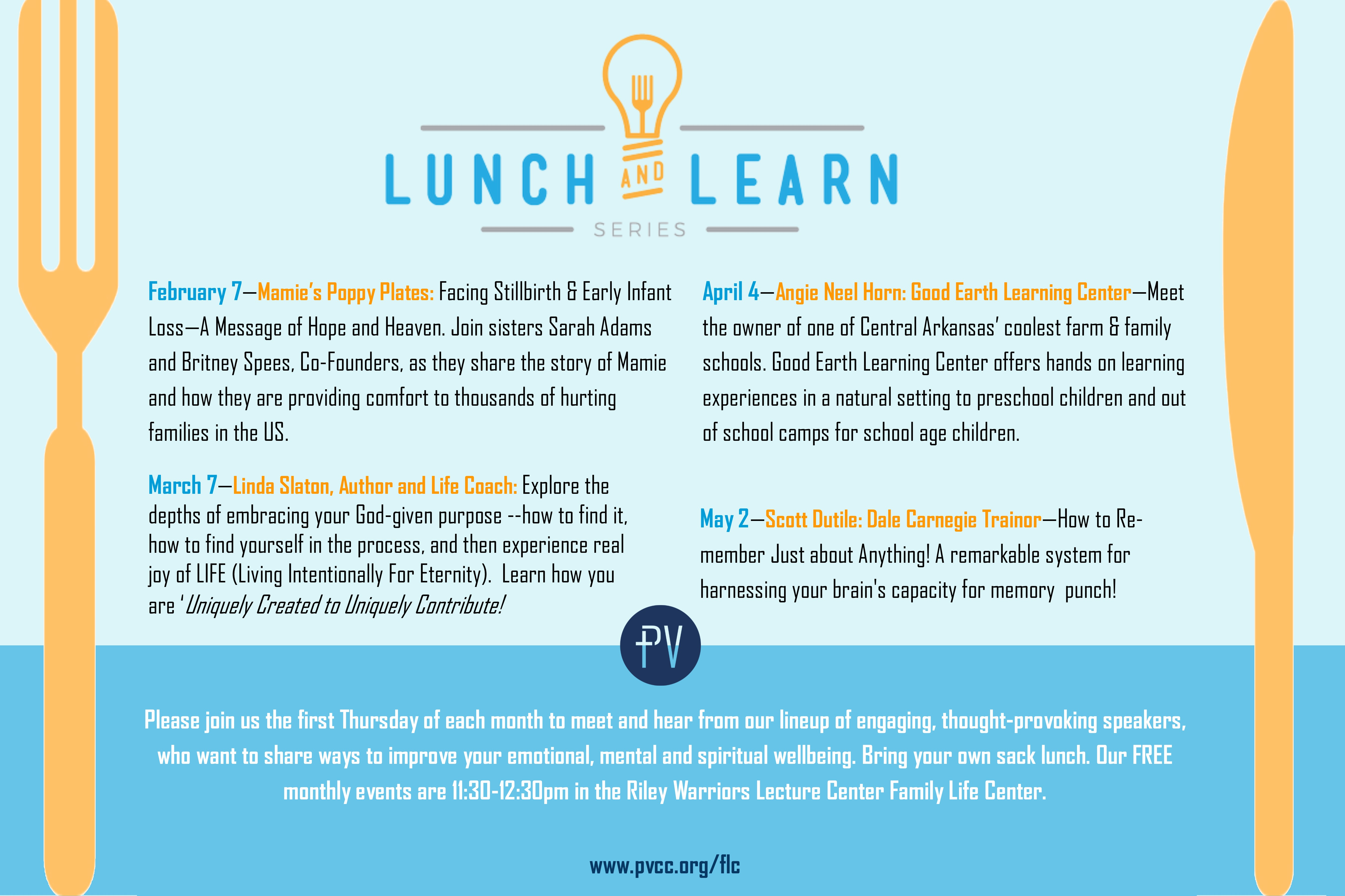 lunchlearnposter2019Q1 pub - PV Church of Christ